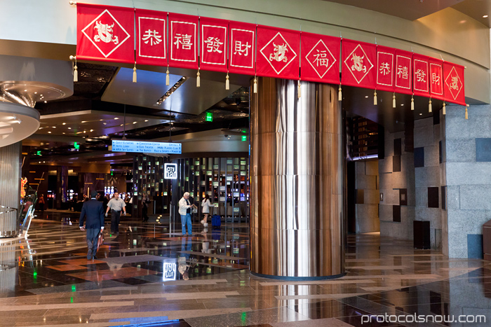 Chinese New Year decorations in Las Vegas at Protocol Snow