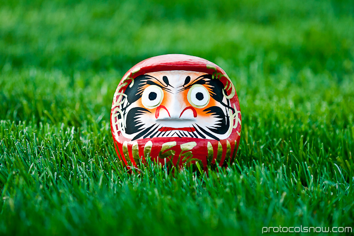 Japanese Buddhist daruma doll gift good luck charm